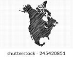 scribble sketch of north... | Shutterstock .eps vector #245420851
