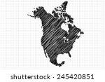 scribble sketch of north... | Shutterstock .eps vector #245420851