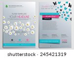 brochure design template.... | Shutterstock .eps vector #245421319
