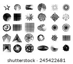 set of grunge style design... | Shutterstock .eps vector #245422681