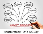 market analysis diagram ... | Shutterstock . vector #245423239