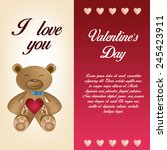 a colored card with text ... | Shutterstock .eps vector #245423911