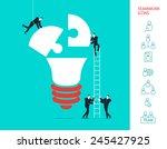 flat design vector illustration ... | Shutterstock .eps vector #245427925