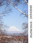 view on vulcan korjaksky which... | Shutterstock . vector #24543040