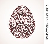 abstract happy easter lettering ... | Shutterstock .eps vector #245431015