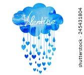rain of hearts | Shutterstock .eps vector #245431804