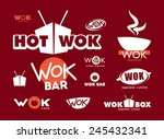 wok  labels  signs  symbols and ... | Shutterstock .eps vector #245432341