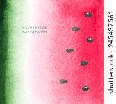 vector watercolor background.... | Shutterstock .eps vector #245437561