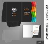 black folder template design... | Shutterstock .eps vector #245438155
