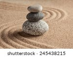 japanese zen stone garden  ... | Shutterstock . vector #245438215