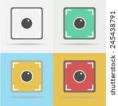 camera icon such logo  vector... | Shutterstock .eps vector #245438791