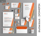 white corporate identity... | Shutterstock .eps vector #245440954