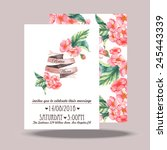 wedding invitation card... | Shutterstock .eps vector #245443339