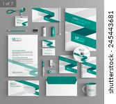 white corporate identity... | Shutterstock .eps vector #245443681
