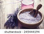 Lavender Salt In A Bowl On...