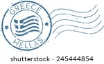 postal grunge stamp 'greece'. | Shutterstock .eps vector #245444854