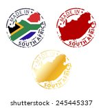 stamp made in south africa | Shutterstock .eps vector #245445337