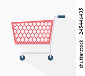 shopping cart icon isolated on... | Shutterstock .eps vector #245446435