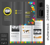 creative black brochure... | Shutterstock .eps vector #245448157