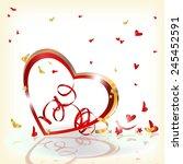 vector background with heart   Shutterstock .eps vector #245452591