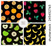 set of seamless patterns with... | Shutterstock .eps vector #245452765