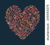creative hand drawn doodle... | Shutterstock .eps vector #245455375