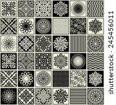 seamless background  patchwork... | Shutterstock .eps vector #245456011