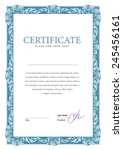 vertical template certificate... | Shutterstock .eps vector #245456161
