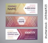 vector company banners with... | Shutterstock .eps vector #245466925