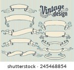 vintage design elements set.... | Shutterstock .eps vector #245468854
