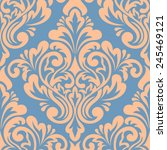 vector damask seamless pattern... | Shutterstock .eps vector #245469121