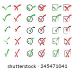 vector collection of check... | Shutterstock .eps vector #245471041