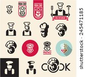 cook icon. chef icons set. | Shutterstock .eps vector #245471185