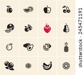 fruits icons set.   Shutterstock .eps vector #245471191