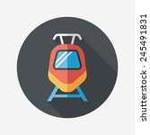 transportation train flat icon... | Shutterstock .eps vector #245491831