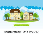 bakery and hotel | Shutterstock .eps vector #245499247