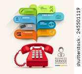 business service icons and... | Shutterstock .eps vector #245501119