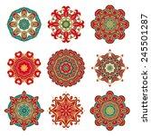 set of decorative rosettes | Shutterstock .eps vector #245501287