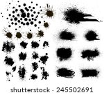 set of black ink vector stains | Shutterstock .eps vector #245502691