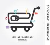 infographics vector online... | Shutterstock .eps vector #245509771