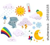 weather vector set  no...