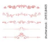 set calligraphic valentine's... | Shutterstock .eps vector #245518405