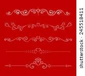set calligraphic valentine's...   Shutterstock .eps vector #245518411