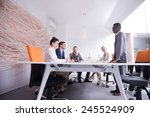 young business people group... | Shutterstock . vector #245524909