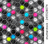 Grid Seamless Pattern With...