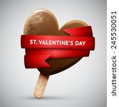 chocolate realistic vector ice... | Shutterstock .eps vector #245530051