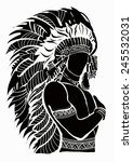 north american indian chief  ... | Shutterstock .eps vector #245532031
