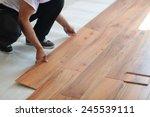 installing laminate flooring in ... | Shutterstock . vector #245539111