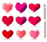 set of heart gem symbols for... | Shutterstock .eps vector #245540179