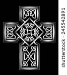 celtic cross | Shutterstock .eps vector #245542891
